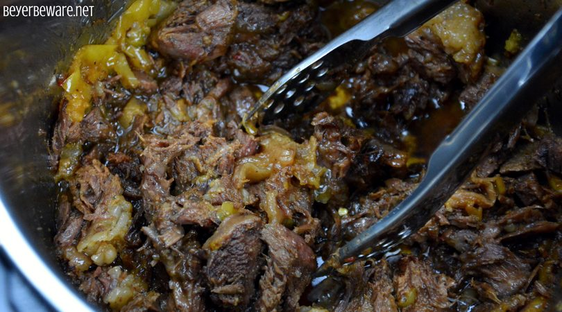 This Instant Pot butter beef recipe is full of flavor, tender to eat and perfect as a sandwich or over mashed potatoes. For those of you trying to eat keto or low-carb this is also a perfect recipe for your diet plan. #Keto #InstantPot #Butter