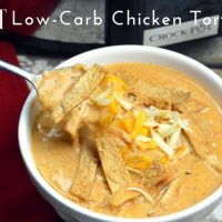 Crock Pot Low-Carb Chicken Tortilla Soup