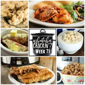 This week's Whatcha Crockin' crock pot recipes include Slow Cooker Cheesy Ravioli Casserole, Creamy White Chicken Chili, Tender Crock Pot Spare Ribs, Crock Pot Creamy Mississippi Beefy Mac, Crock Pot Ranch Pork Chops, Instant Pot Cinnamon Raisin Oatmeal, Pressure Cooker Country Style Ribs and more!