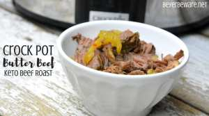 Keto crock pot butter beef roast recipe is a simple butter, ranch and Italian seasonings and banana pepper rings combined to make the low-carb beef roast.