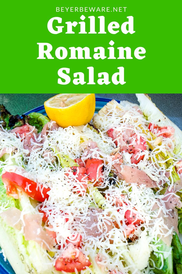 This grilled romaine salad is a quick and easy salad recipe. It takes less than five minutes to make this simple yet flavorful salad. #Salad #Lettuce #Grilling #GrillRecipes #SideDishes #BBQ