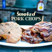 Smoked pork chops don't have to be something you have to just eat outside of home thanks to these simple directions and ingredients you too can smoke your own pork chops on your home smoker or big green egg.