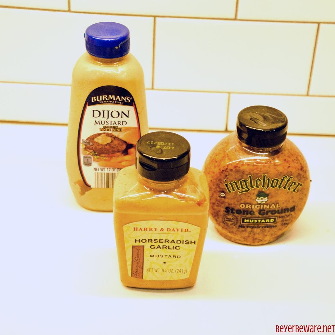 Three types of mustards