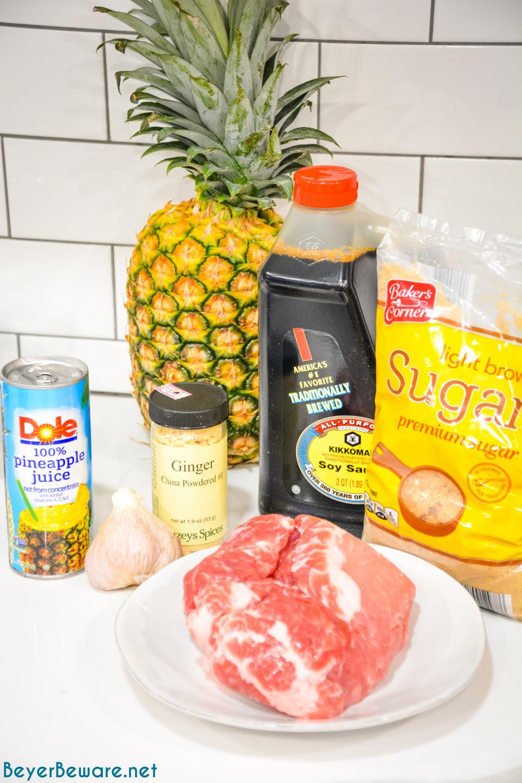 Teriyaki Pork Ingredients