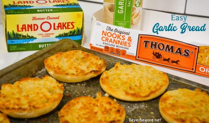 English Muffin Garlic Toast – Easy Homemade Garlic Bread