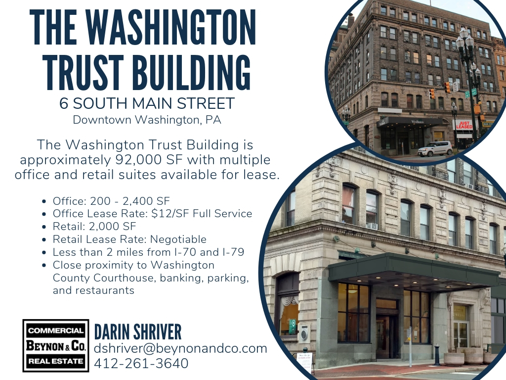 For Lease: The Washington Trust Building – Beynon and Company