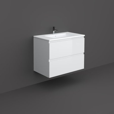 RAK-JOY - JOYWH080PWH Wall Hung Vanity Unit, Pure White
