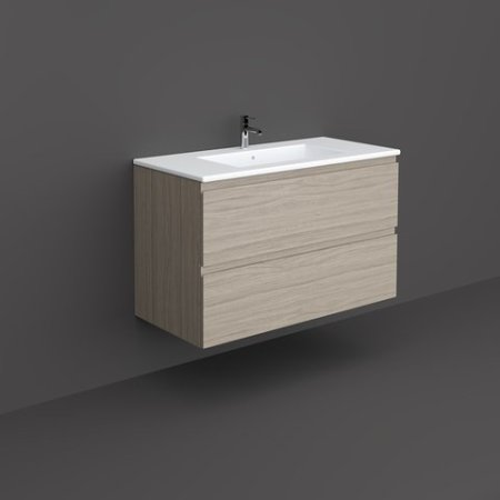 RAK-JOY - JOYWH100EGY Wall Hung Vanity Unit, Grey Elm