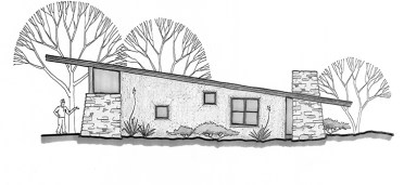Triangle House Plan Side Elevation