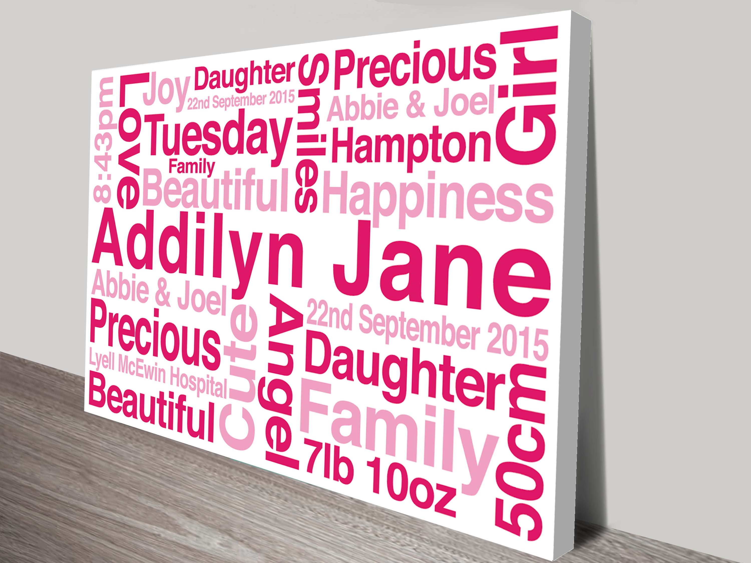 Personalised Canvas Word Art And Wedding Wall Art Gift Ideas ...