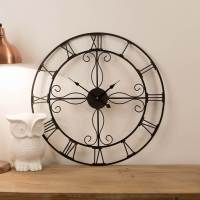 Ornate 60cm Wrought iron Wall Clock - Vintage Clocks