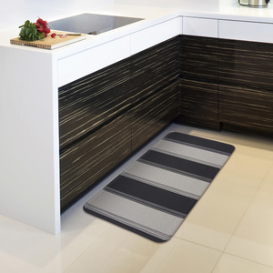 padded kitchen mats renovation pictures waterproof reversible pvc mat 44x95cm black nautica