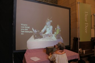 Dear Deer: Interactive Poetry at the DUMBO Arts Festival