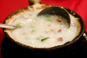 Meaty congee  via Robyn Lee, licensed through Creative Commons