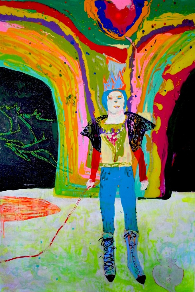 HSIEH Yi-Ju 謝怡如 Colors for you, Nonchalance to him (right panel) 顏色給了你 輕鬆給了他 2011 Acrylic on Canvas 壓克力顏料、畫布 117 x 80 cm x 2 pieces