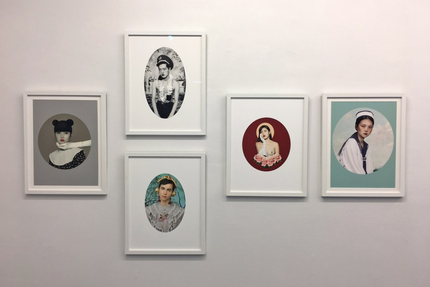 Installation view of Hailun Ma's photography works on view at MARYMARY PROJECTS pop up gallery