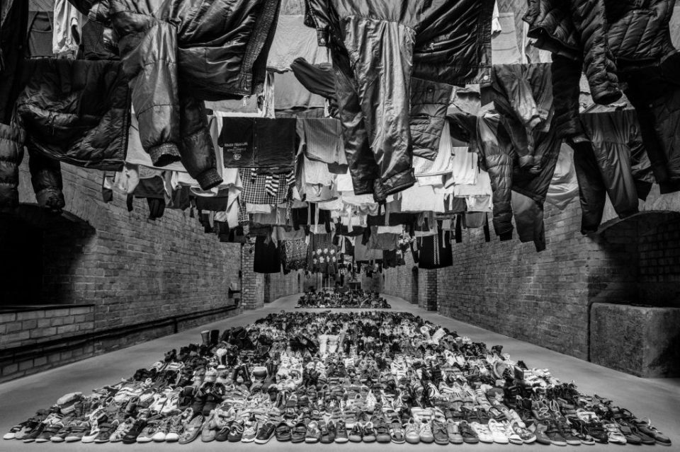 """Ai Weiwei's studio in Berlin. The exhibition """"Laundromat,"""" at Deitch Projects, will display migrants' castoffs. Credit Courtesy of the artist and Ai Weiwei Studio"""