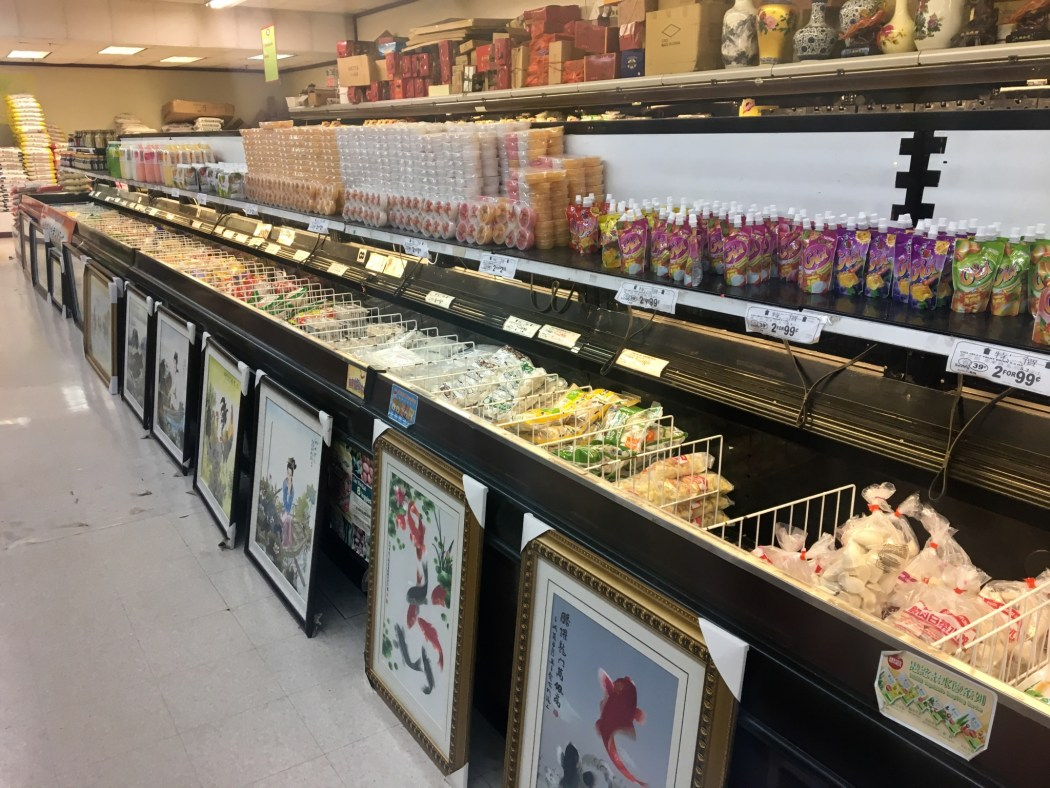 Frozen food and framed art