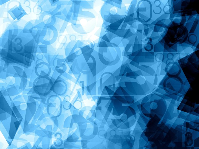 blue dynamic abstract numbers background texture