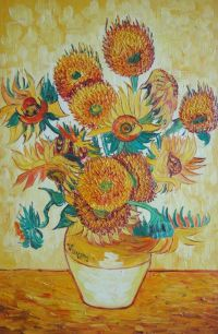 Framed Sunflowers, Van Gogh Reproduction Oil Painting ...