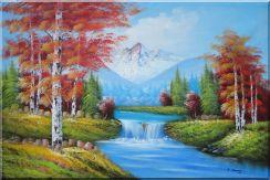 small waterfall scenery in