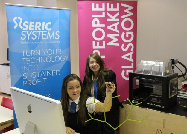 Rebecca and Chloe SMART STEMs from Castlemilk High School, Glasgow