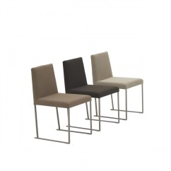 Fabric Dining Chairs Grey Check Chair Covers Lia Beyond Furniture