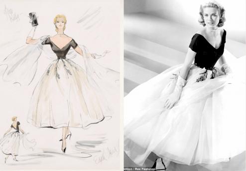 Vestuario de Grace Kelly por La ventana indiscreta -