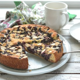 A burst of blueberry on every bite of this easy blueberry cake