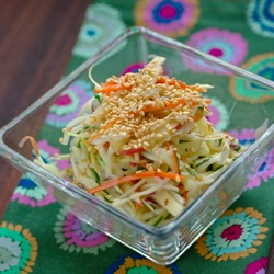 A very simple apple coleslaw recipe