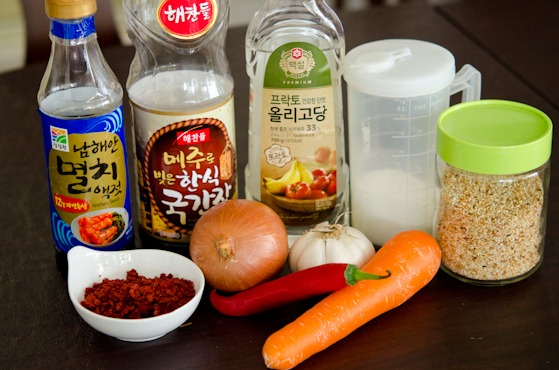 Perilla kimchi seasoning ingredients