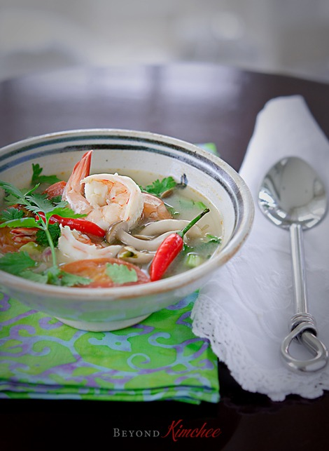 Tom Yum Goong is Thai hot and sour prawn soup