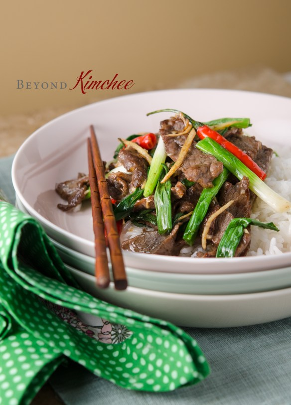 Beef with Ginger and Green Onion