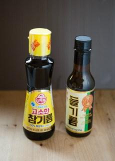 sesmae oil and wild sesame oil