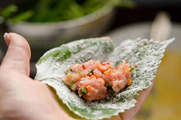 Perilla Leaves Dumplings