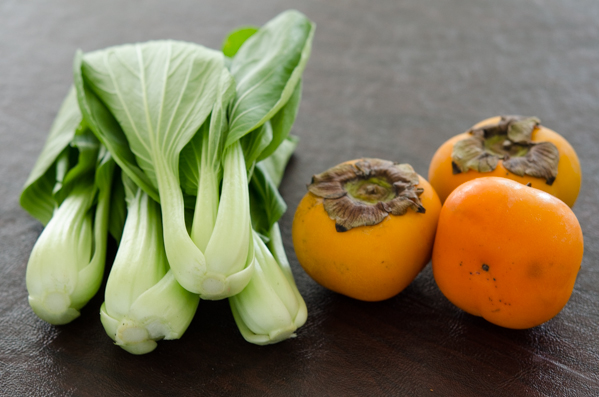 Bok Choy and Persimmon