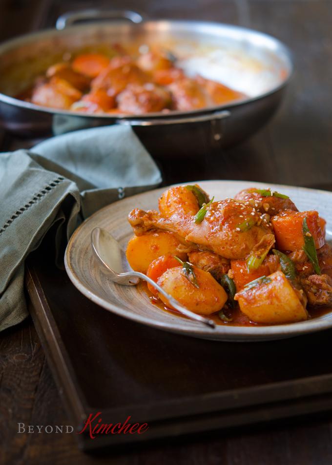 Spicy Korean Chicken Stew, Dakdoritang