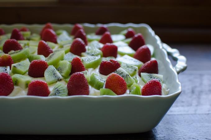 Non-alcoholic Strawberry Kiwi Tiramisu