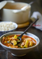 Spicy Pork and Zucchini Stew