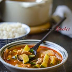 Spicy Pork and Zucchini Stew
