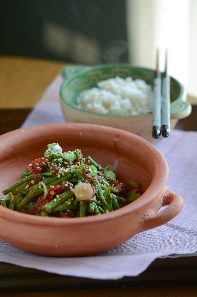 Snake Beans with Beef Sauce-8