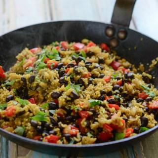 Black Bean Quinoa Curry Rice