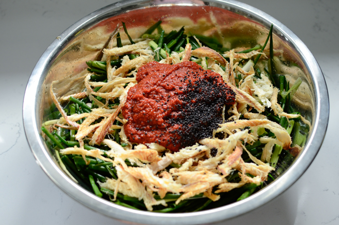 Green Onion Pollock Kimchi