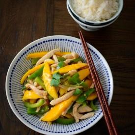 20 minutes Chicken Mango Stir-fry