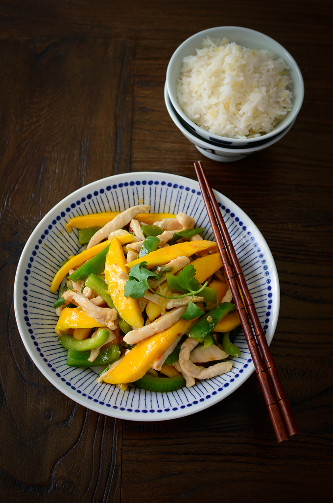 Make this Chicken Mango Stir-fry within 20 minutes for your quick weeknight meal