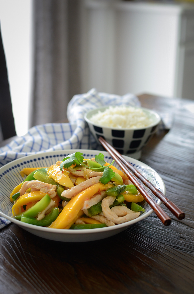 You can make this delicious chicken mango stir-fry within 20 minutes.