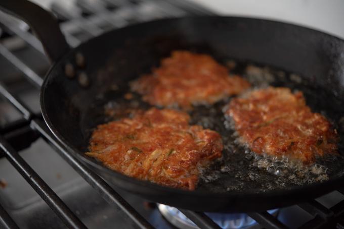 Kimchi Cheese Potato Fritters
