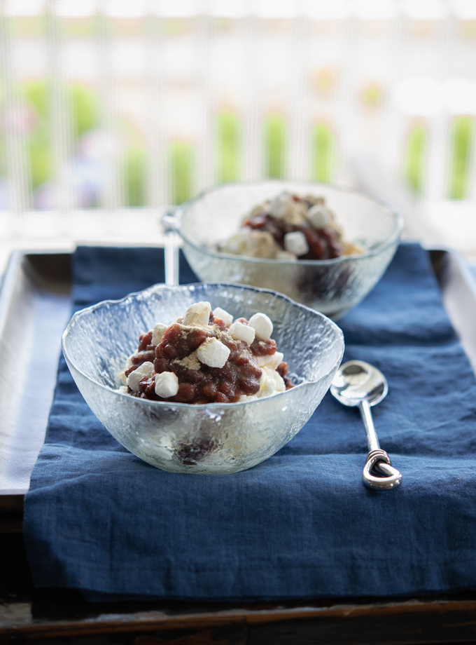 Make Patbingsu (Milky Ice with Red Beans) without a shaving machine