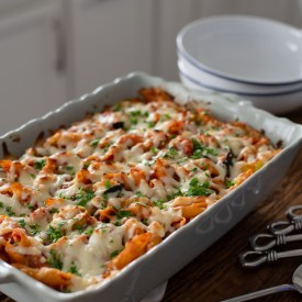 Baked Pasta with Ricotta and Roasted Vegetables