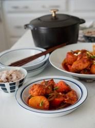 The Most Delicious Spicy Korean Chicken Stew